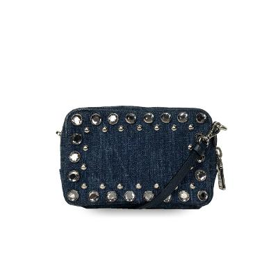 canapa stud denim mini bag